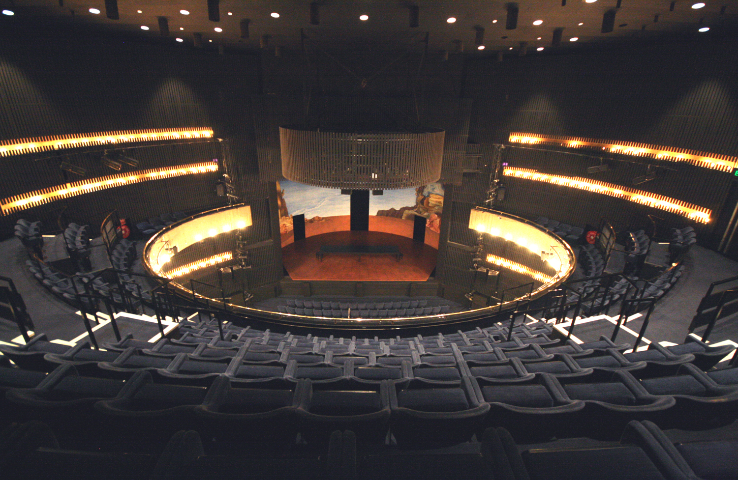 The auditorium viewed from the back of the circle
