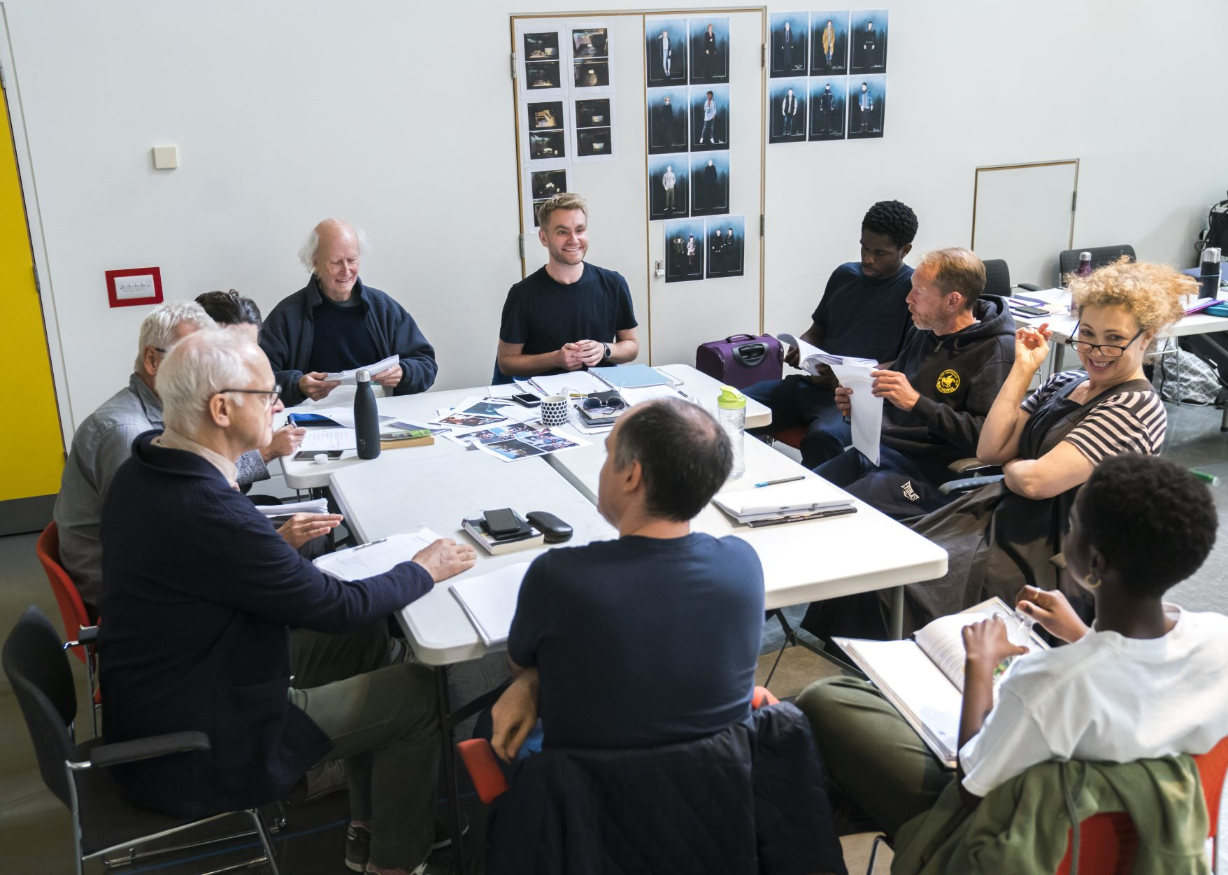 Rehearsals for An Enemy of the People - photography by Tristram Kenton