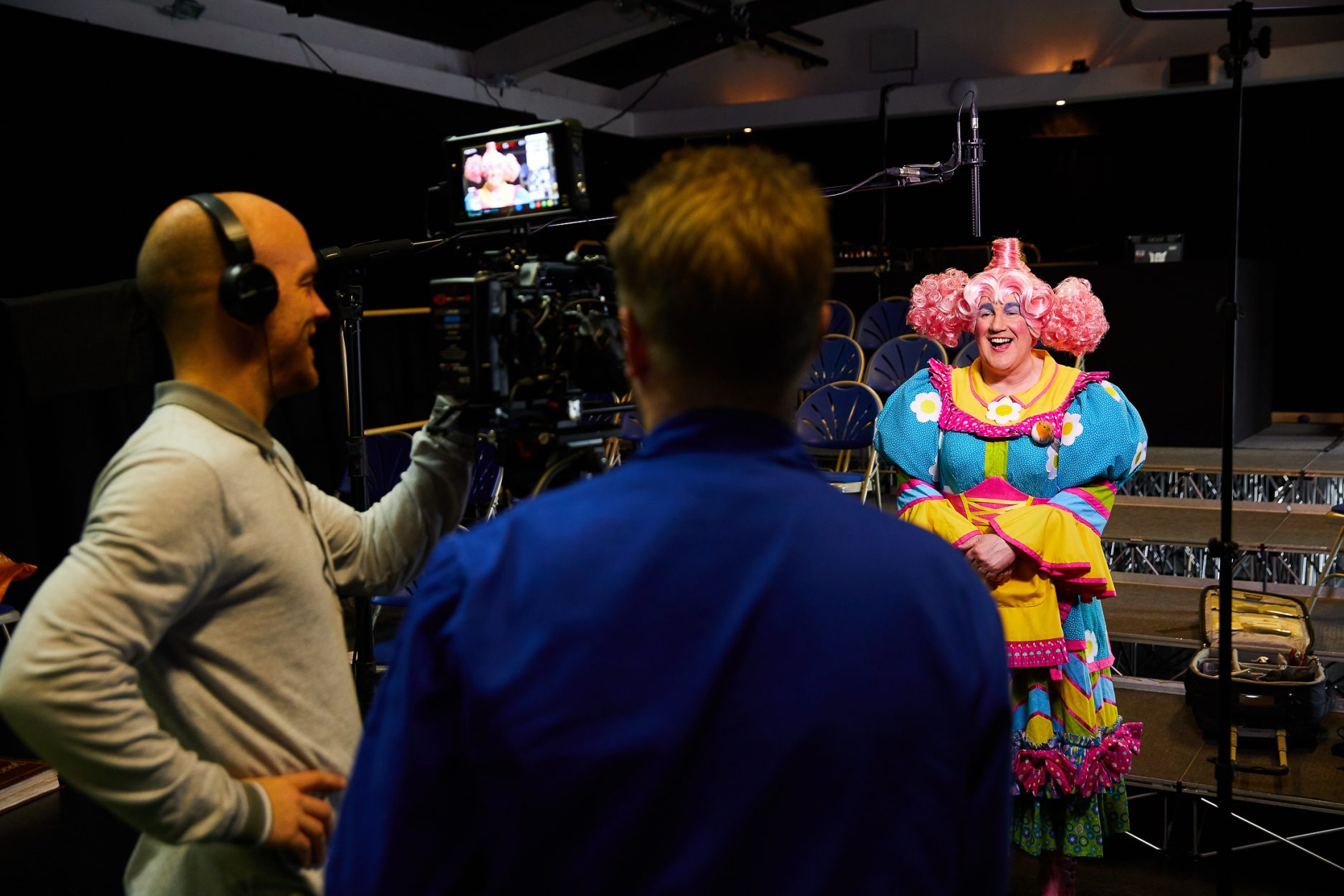 Behind the scenes at our panto trailer and photo shoot - photography by Tom Wren