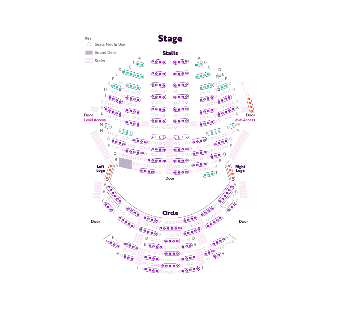 Nottingham Playhouse's socially distanced seating plan for Cinderella