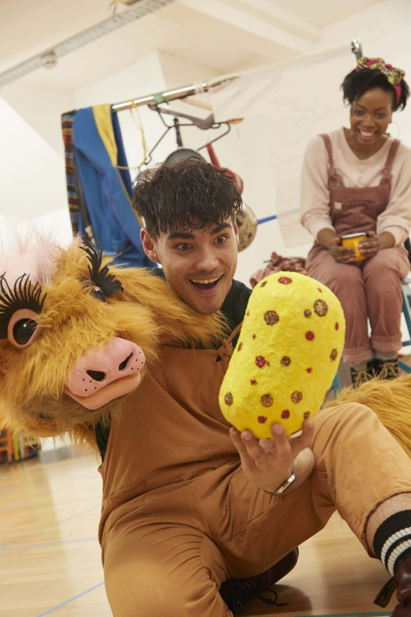 Jack and the Beanstalk in rehearsals, photography by Alan Fletcher (A Shot in the Dark)