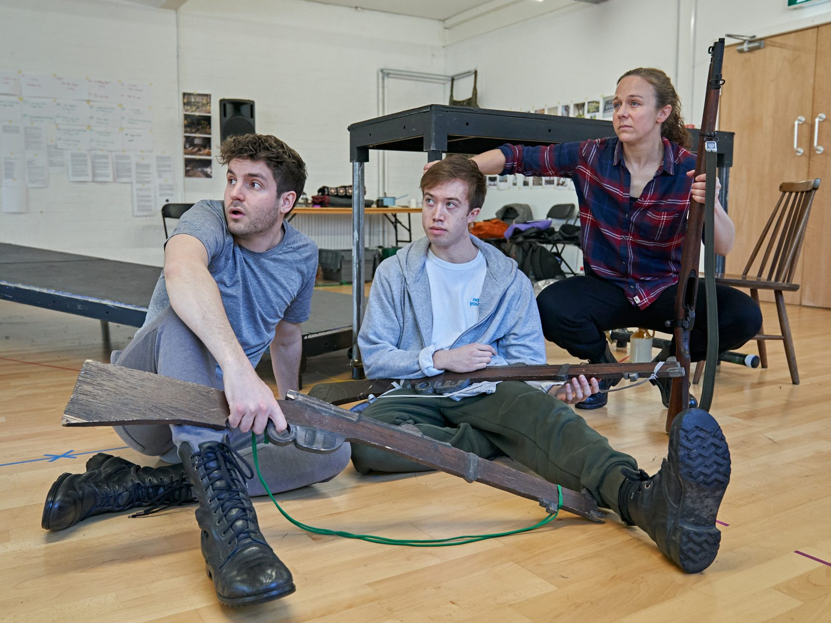 The cast in rehearsals in early 2020. Photo Credit: Manuel Harlan