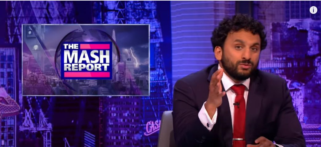A clip from The Mash Report
